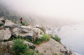 ocean-woman-morning-fog-at-big-sur
