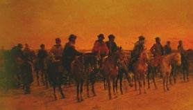 """Gauchos a caballo (1900), Ángel Della Valle (""""Gauchos on horseback"""")"""