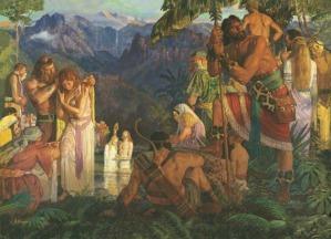 Alma Baptizing People (Mosiah 18:7-17)