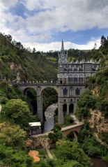 Panorama Of Las Lajas Sanctuary, Ipiales, Colombia