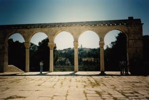 Arches Above Eastern Gate (Golden Gate) in Jerusalem