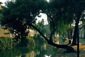 Canal Along Pingjiang Road in Suzhou, China
