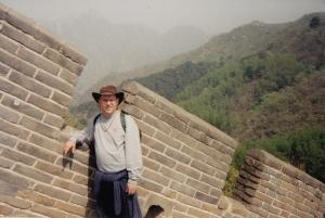 Climbing the Great Wall at Mutianyu, China