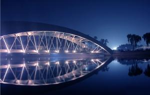 Crescent Lake at Night in Dhaka, Bangladesh