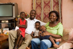 Family At Home In Accra, Ghana