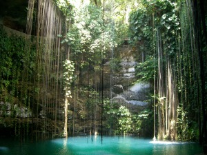 Grotto in Cancun, Mexico