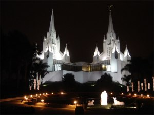 Mormon Temple in San Diego, California, USA