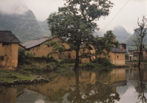 Riverside Hamlet on Li Jiang Near Yangshuo, China