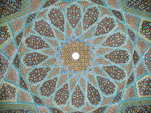 Roof Mosaic, Tomb of Hafez, Shiraz, Iran