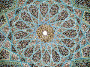 Roof Mosaic, Tomb of Hafez, Shiraz, Iran