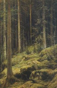 Spruce Forest (1892), Ivan Shishkin, Tretyakov Gallery, Moscow