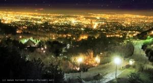 Tehran at night from Jamshidieh Park