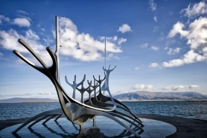 The Sun Voyager (Solfar in Icelandic) is a sculpture Jon Gunnar Arnason (1931-1989), an Icelandic artist born in Reykjavik