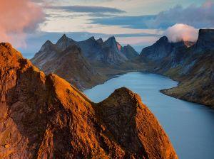 Top of the World in Lofoten Islands, Norway