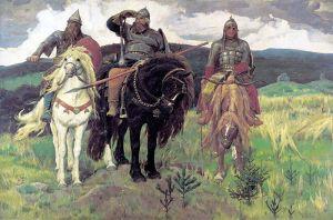 Valiant Warriors of Old (1898), Viktor Vasnetsov, Tretyakov Gallery, Moscow