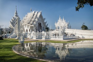 Wat Rong Khun, the White Temple, in Chiang Rai, Thailand