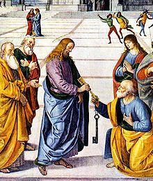 Christ Handing the Keys to St Peter (Gesupietrochiave), by Pietro Perugino (1481-82)
