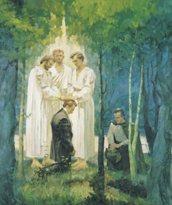 Peter, James and John Confirm the Keys to Joseph Smith and Oliver Cowdery