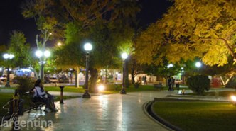 Godoy Cruz, A Park At Night