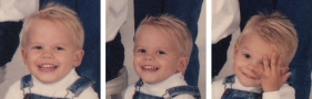 Faces Of Kevin At 3 Years Old
