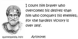 Aristotle on Courage To Conquer Self