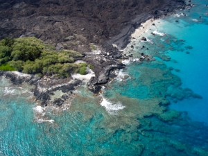 Aerial view of Hawaii coast