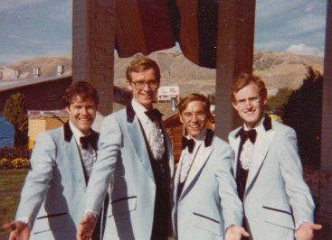 Dave with his barbershop quartet from high school, at the state fair