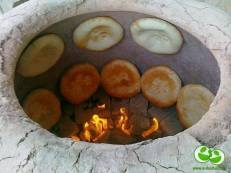 Türkmen Tamdyr Çörek-Turkmen Bread Cooked In A Tandoor