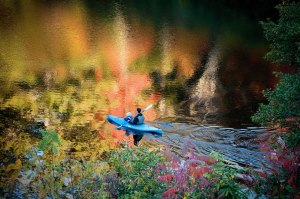 Canoeing On Hampton Lake, North Carolina Is A Great Way To See Fall Foliage